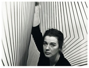 Wearing stripes, Bridget Riley and the seaside