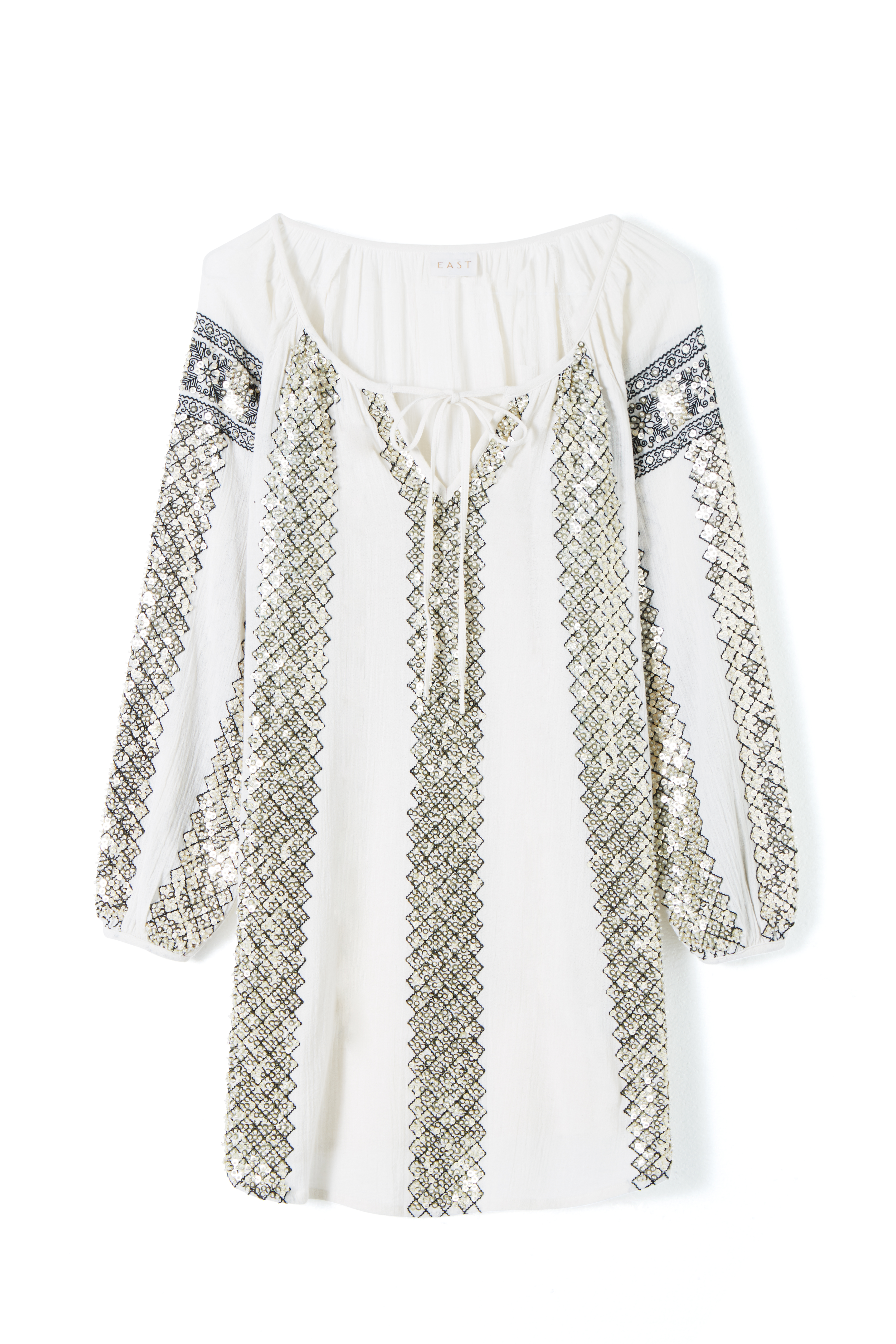 EAST Aut-Trans sequin tunic