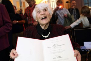 The oldest PhD student in the world (aged 102)