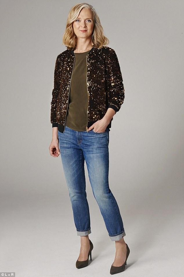 Alyson Walsh-Sequin_jacket_89_marksandspencer_com_khaki_top_69_shoes_149_jigs-a-31_1442449379406