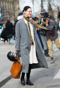 It's all about the skinny scarf