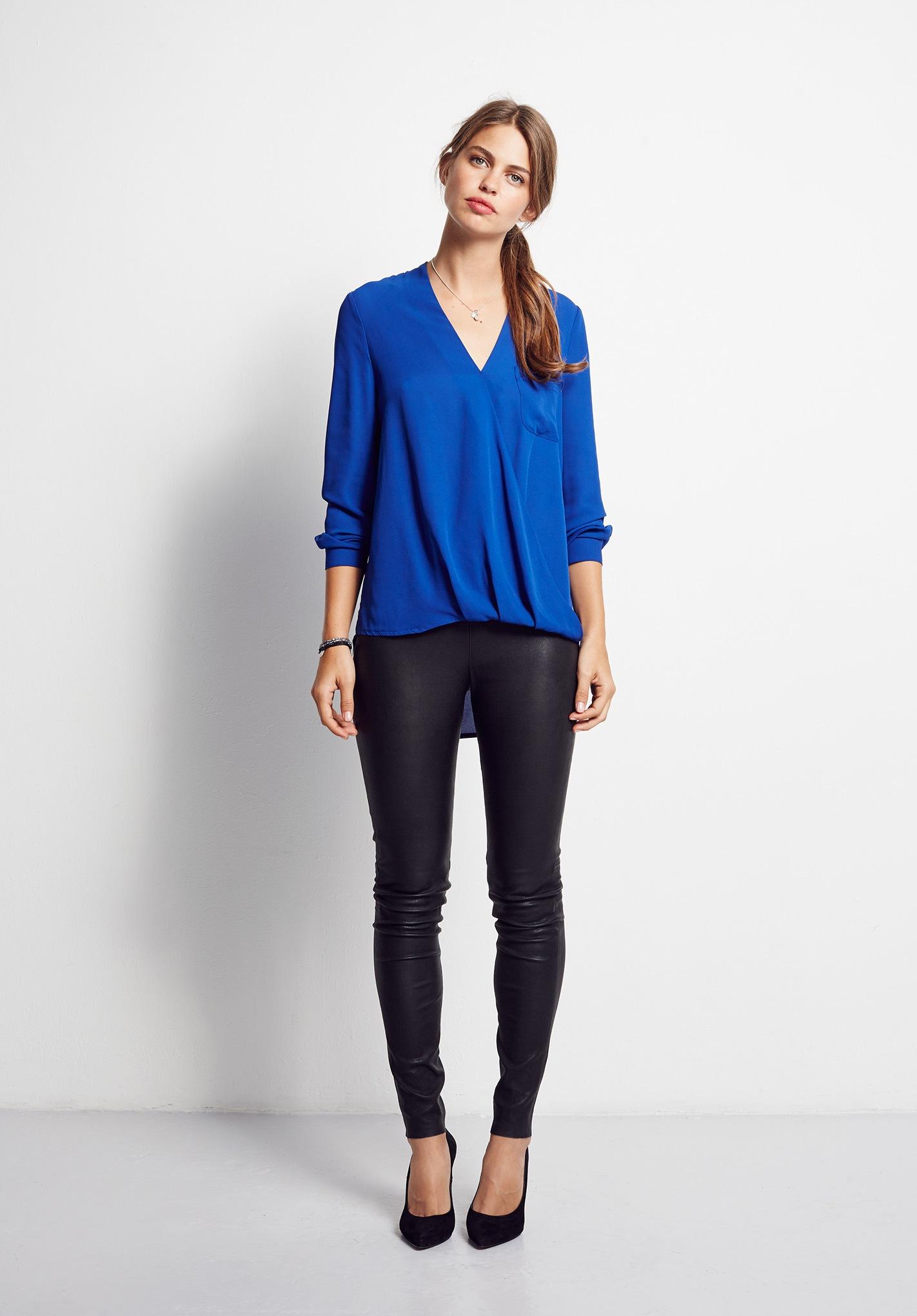 blue wrap shirt Hush-BLI-01