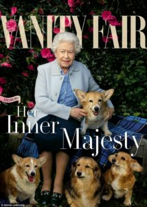 The Queen on the cover of Vanity Fair