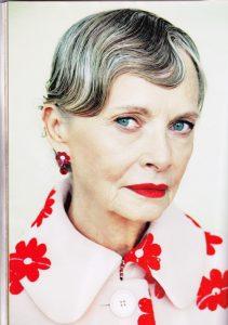 Grey hairspiration in Harper's Bazaar