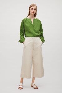 Hot weather dressing: cropped pants can look chic