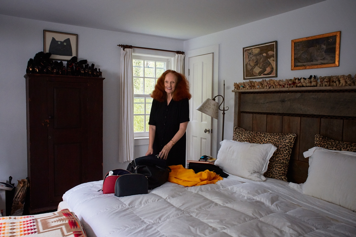 d350f698509a Grace Coddington packs six shirts and six trousers and leaves her address  book at home. Patti Smith always takes t-shirts