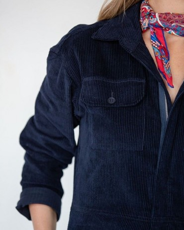 Corduroy close-up. (And a Liberty print scarf).