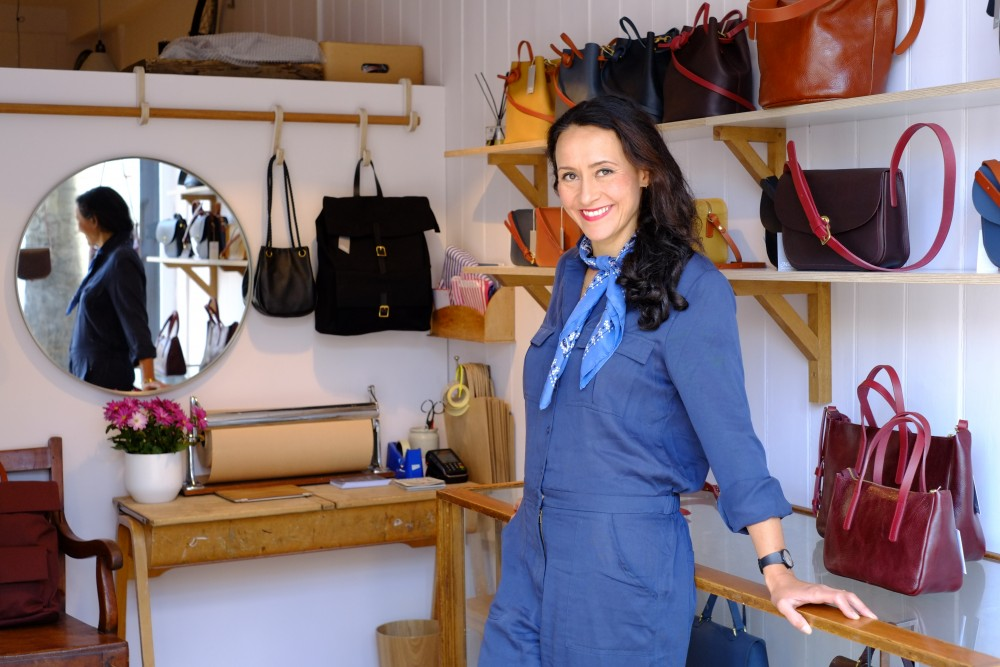 Creative women at work: bag designer Mimi Berry