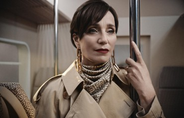 Kristin Scott Thomas in Burberry's Christmas campaign