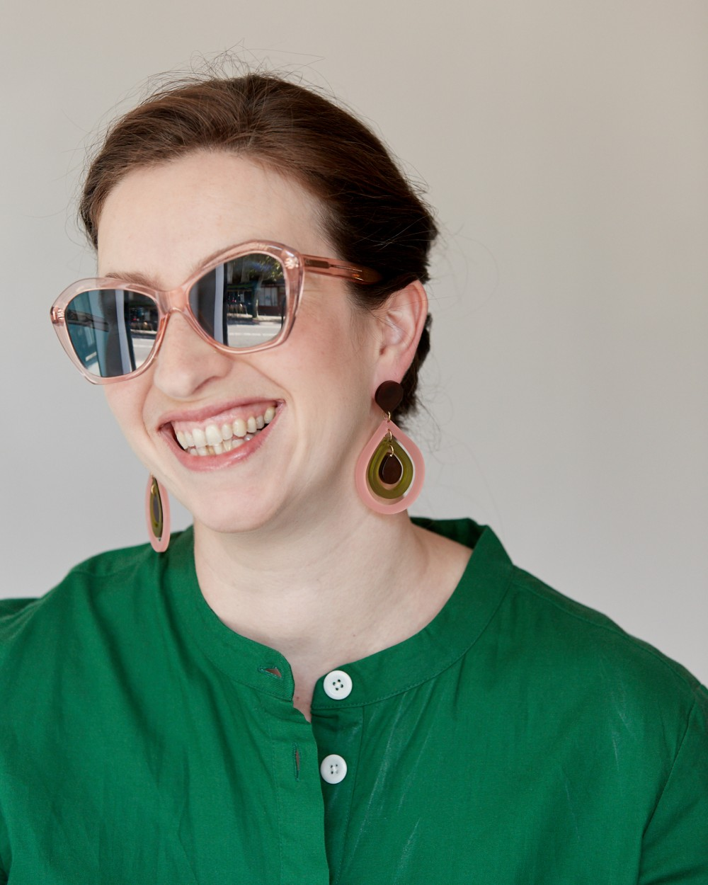 How to wear glasses AND statement earrings