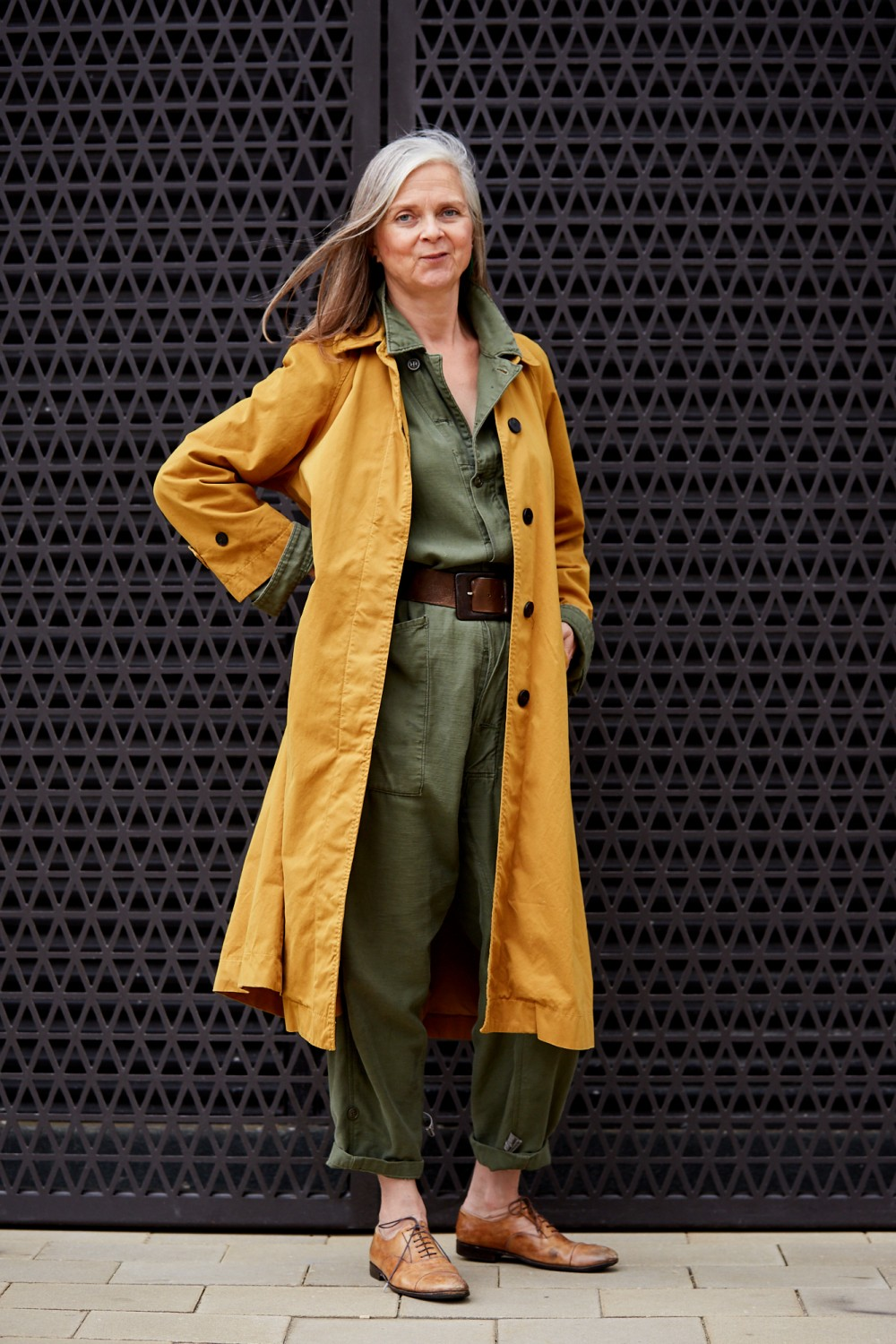 How to wear a colourful coat