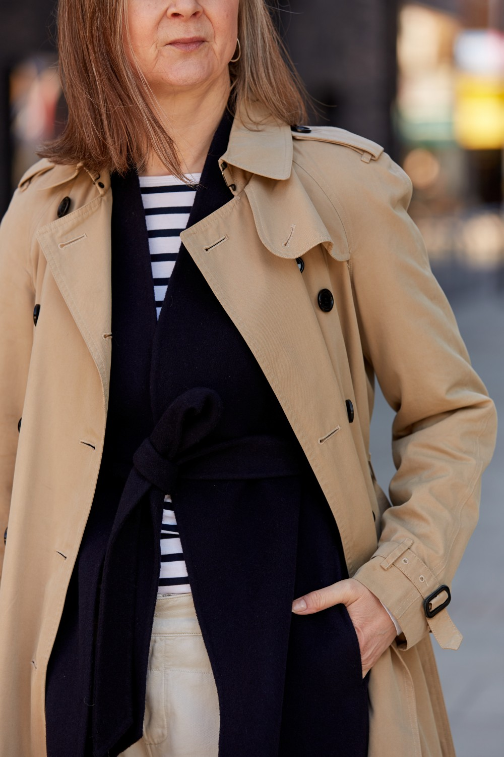 Everyone is wearing: the striped long-sleeved t-shirt