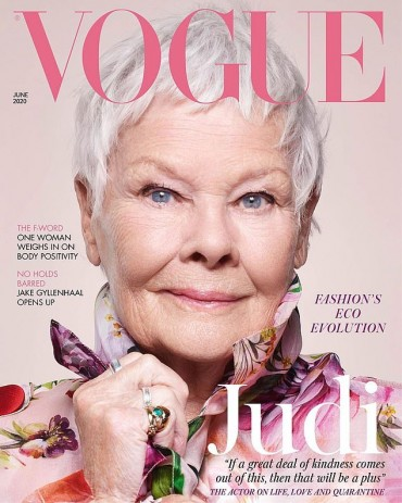 Dame Judi Dench on the cover of Vogue